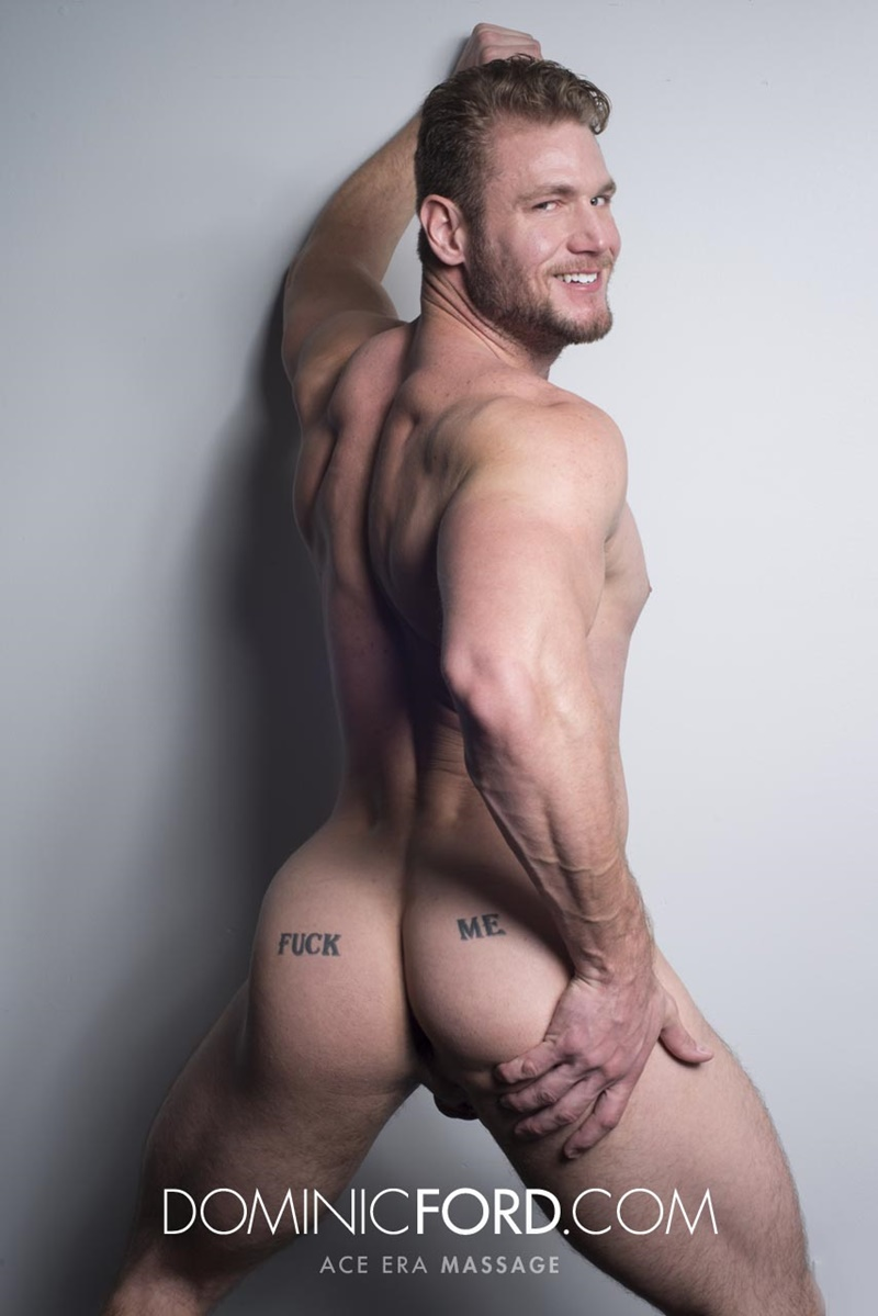DominicFord sexy naked young muscle ripped dude Ace Era massage big thick large cock huge jizz cumshot six pack abs hairy beard 003 gay porn sex gallery pics video photo - Dominic Ford it ends with Ace Era's exploding cum shot all over his chiseled abs