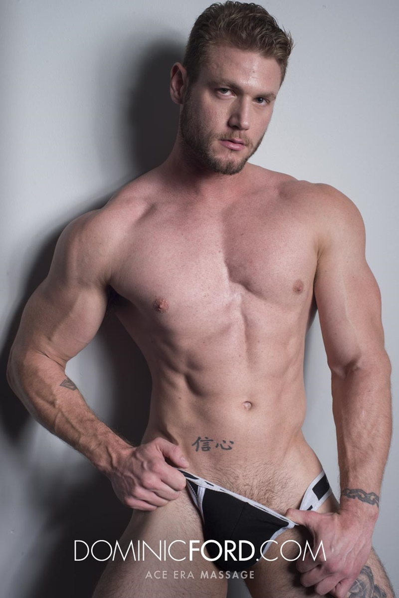 DominicFord sexy naked young muscle ripped dude Ace Era massage big thick large cock huge jizz cumshot six pack abs hairy beard 005 gay porn sex gallery pics video photo - Dominic Ford it ends with Ace Era's exploding cum shot all over his chiseled abs