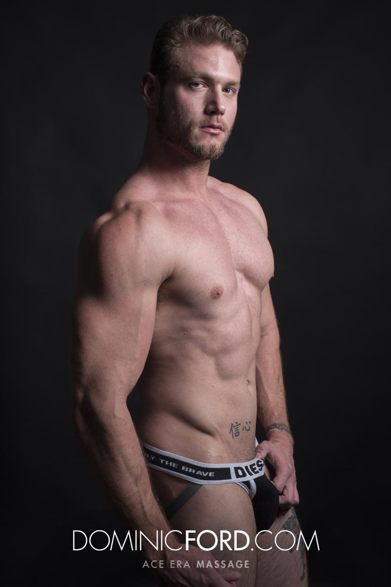 DominicFord sexy naked young muscle ripped dude Ace Era massage big thick large cock huge jizz cumshot six pack abs hairy beard 006 gay porn sex gallery pics video photo - Dominic Ford it ends with Ace Era's exploding cum shot all over his chiseled abs