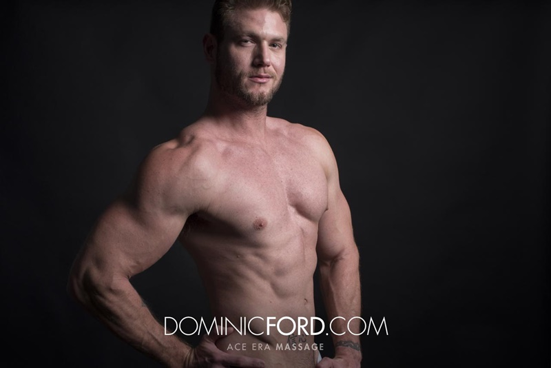DominicFord sexy naked young muscle ripped dude Ace Era massage big thick large cock huge jizz cumshot six pack abs hairy beard 007 gay porn sex gallery pics video photo - Dominic Ford it ends with Ace Era's exploding cum shot all over his chiseled abs