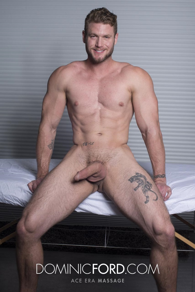 DominicFord sexy naked young muscle ripped dude Ace Era massage big thick large cock huge jizz cumshot six pack abs hairy beard 008 gay porn sex gallery pics video photo - Dominic Ford it ends with Ace Era's exploding cum shot all over his chiseled abs