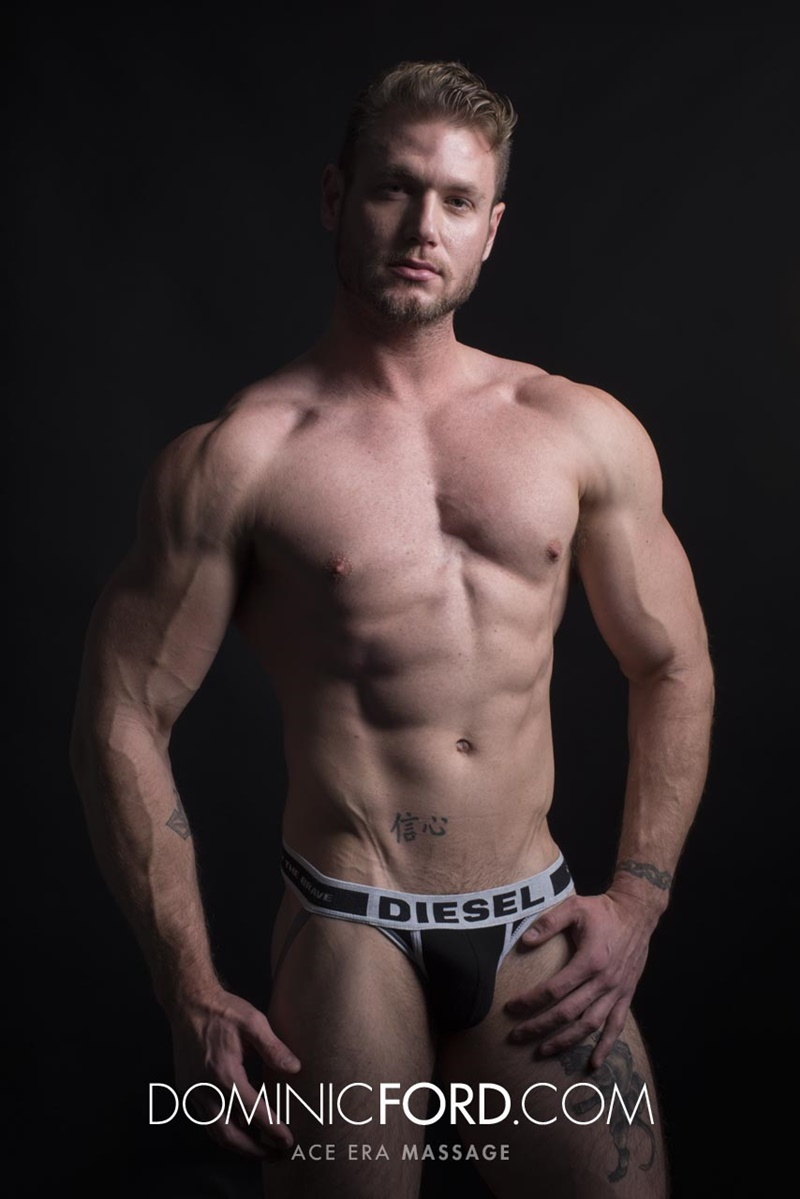 DominicFord sexy naked young muscle ripped dude Ace Era massage big thick large cock huge jizz cumshot six pack abs hairy beard 011 gay porn sex gallery pics video photo - Dominic Ford it ends with Ace Era's exploding cum shot all over his chiseled abs