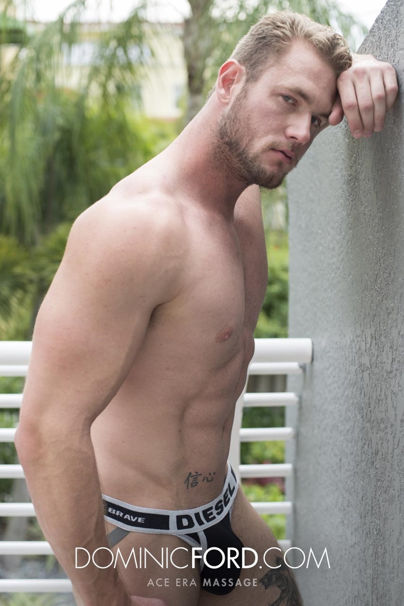 DominicFord sexy naked young muscle ripped dude Ace Era massage big thick large cock huge jizz cumshot six pack abs hairy beard 016 gay porn sex gallery pics video photo - Dominic Ford it ends with Ace Era's exploding cum shot all over his chiseled abs