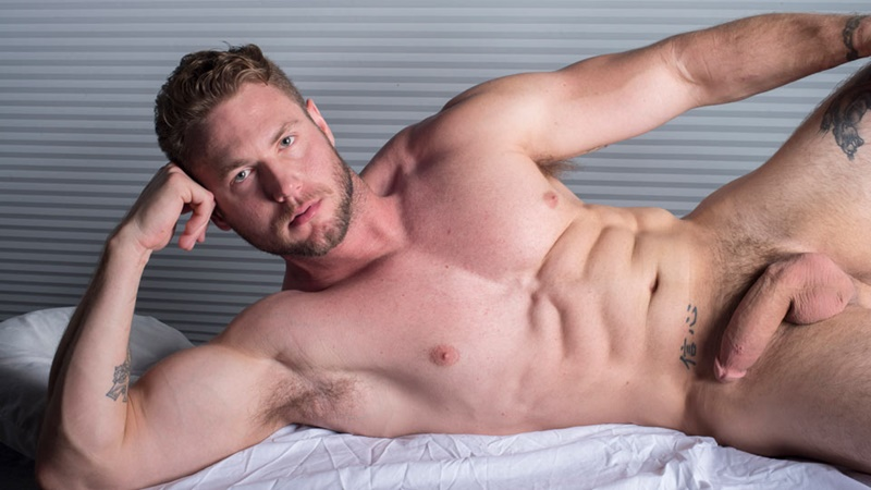DominicFord sexy naked young muscle ripped dude Ace Era massage big thick large cock huge jizz cumshot six pack abs hairy beard 018 gay porn sex gallery pics video photo - Dominic Ford it ends with Ace Era's exploding cum shot all over his chiseled abs