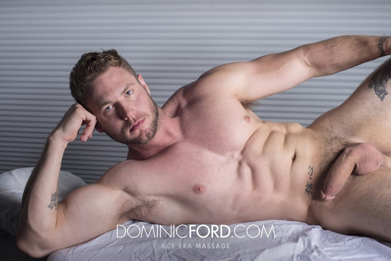 DominicFord sexy naked young muscle ripped dude Ace Era massage big thick large cock huge jizz cumshot six pack abs hairy beard 020 gay porn sex gallery pics video photo - Dominic Ford it ends with Ace Era's exploding cum shot all over his chiseled abs