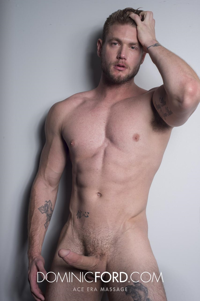 DominicFord sexy naked young muscle ripped dude Ace Era massage big thick large cock huge jizz cumshot six pack abs hairy beard 021 gay porn sex gallery pics video photo - Dominic Ford it ends with Ace Era's exploding cum shot all over his chiseled abs