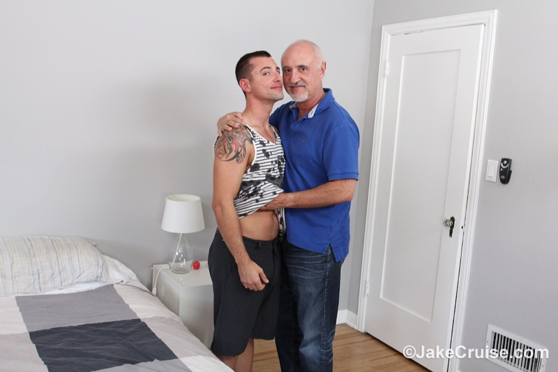 JakeCruise Sexy young naked dude Wolfie Blue big dick serviced older mature dude Jake Cruise big thick large cock sucking feet 002 gay porn sex gallery pics video photo - Sexy young naked dude Wolfie Blue's big dick serviced by older mature dude Jake Cruise
