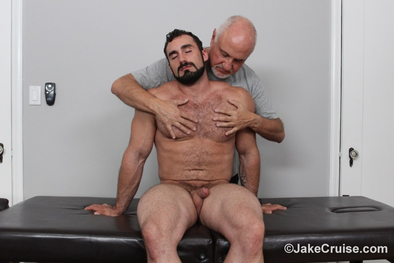 JakeCruise hairy chest big daddy hunk Jaxton Wheeler big cock massage Jake Cruise mature men older guys serviced massage 002 gay porn sex gallery pics video photo - Jaxton Wheeler's big cock massage by Jake Cruise