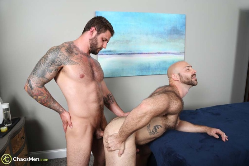 ChaosMen sexy hairy chested naked hunk Tatum Parks bare fucks Ronin tight muscled asshole anal rimming big dick cocksucking 002 gay porn sex gallery pics video photo - Hairy chested hunk Tatum Parks bare fucks Ronin's tight muscled asshole