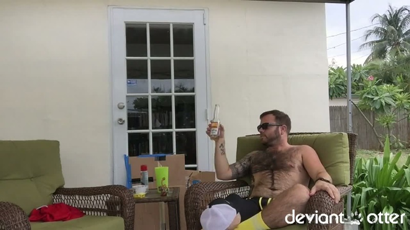 DeviantOtter sexy hairy chest young sub cub naked dude Devin Totter tattoo inked big large dick sucking cocksucker anal rimming 002 gay porn sex gallery pics video photo - Deviant Otter sub cub
