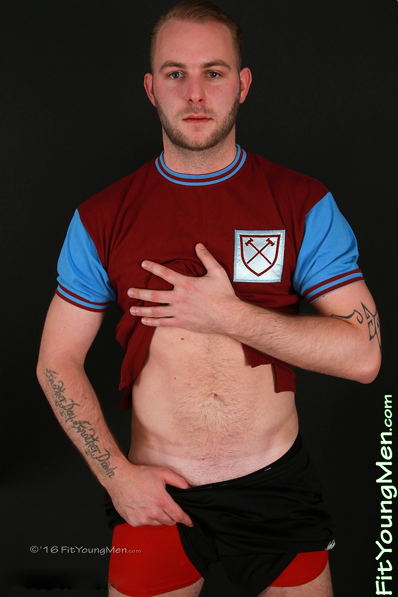 FitYoungMen sexy nude Footballer dudes footie kit Straight boys Tristan Woods big thick foreskin uncut dick bubble butt ass 001 gay porn sex gallery pics video photo - Young nude footballer Tristan Woods strips off his footie kit and shows off his sexy hard uncut dick