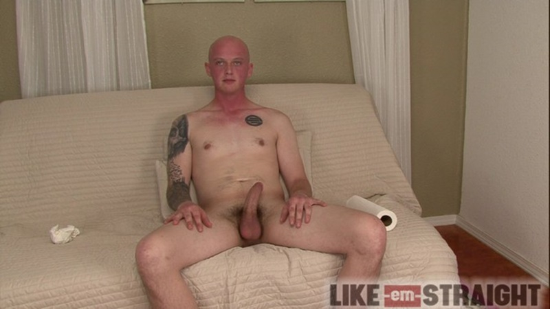 LikeEmStraight straight young naked dude Brendon lubes strokes dude Ted big thick large cock cumshot jizz orgasm 010 gay porn sex gallery pics video photo - Brendon lubes and strokes straight dude Ted's beautiful straight cock to orgasm