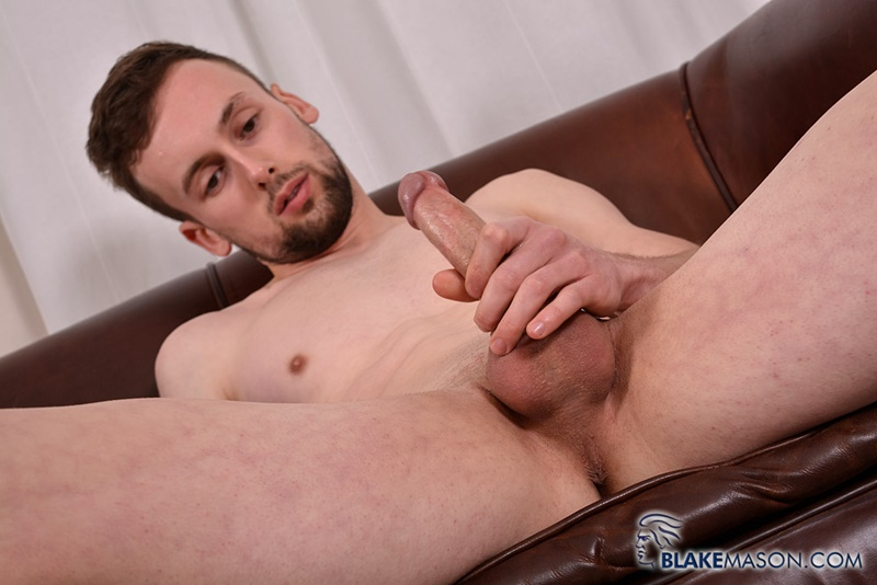 BlakeMason Straight British naked dude Eden Starr jerks big uncut dick bubble butt ass hole huge dildo ass play 001 gay porn sex gallery pics video photo - Straight British dude Eden Starr jerks his big uncut dick as he probes his ass with a huge dildo