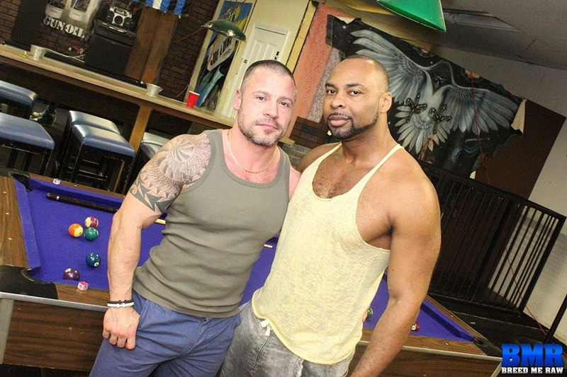 BreedMeRaw big black muscle bear dude Ray Diesel 10 inch ebony cock Russ Magnus loose slut ass hole anal rimming cocksucking bears 001 gay porn sex gallery pics video photo - Ray Diesel sinks his 10 inch cock deep into Russ Magnus' loose slut hole