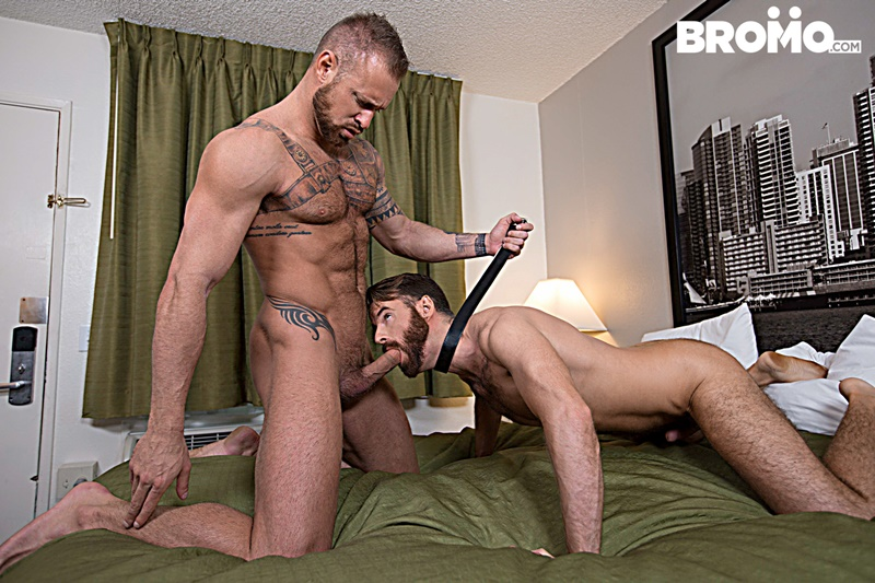 Bromo hairy chest naked muscle hunk Michael Roman fucks Brendan Patrick blow cum loads face fucking cocksucking big thick dick 001 gay porn sex gallery pics video photo - Michael Roman tosses Brendan Patrick around like a rag-doll until the two blow their loads