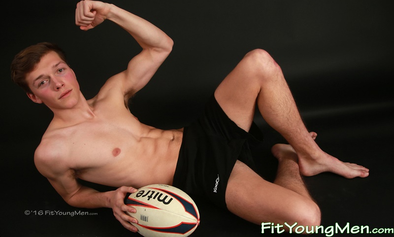FitYoungMen Sexy young naked rugby player sportsman dude Aiden Kennedy strips off tight underwear big cock uncut bulge bubble butt 001 gay porn sex gallery pics video photo - Sexy young rugby player Aiden Kennedy strips off his sexy tight underwear