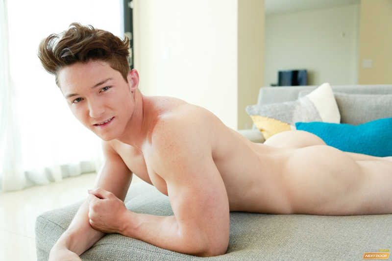 NextDoorMale 18 year old athlete Dave Summerlin jerks huge cock strips naked muscled chest thick arms huge cumshot ripped abs 015 gay porn sex gallery pics video photo - 18 year old athlete Dave Summerlin jerks his huge cock as he strips naked