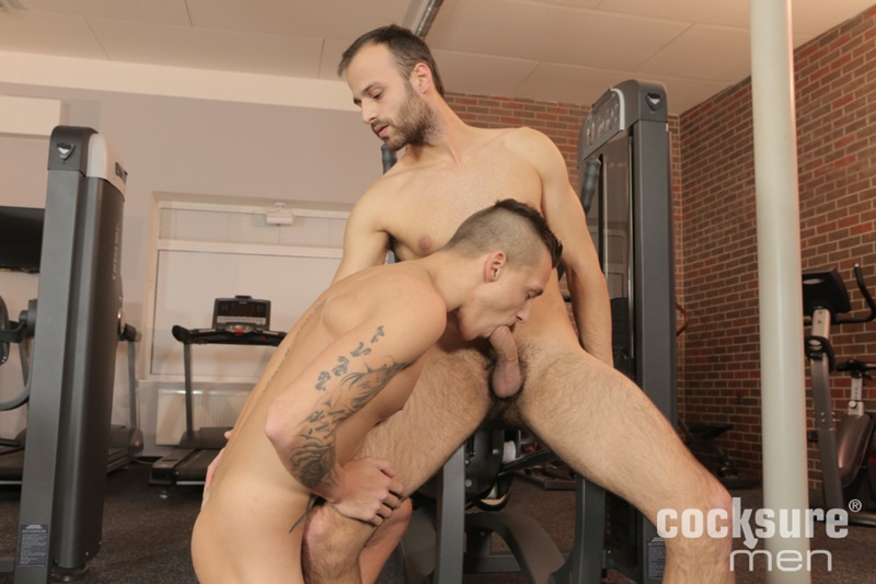 CocksureMen smooth young nude dudes Andrew Crime bareback fucks Dom Ully tight muscled asshole shaved head beard 001 gay porn sex gallery pics video photo - Andrew Crime bareback fucks Dom Ully's tight muscled asshole
