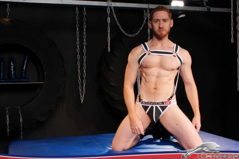 UKHotJocks sexy ginger hair red hair muscle hunk Leander sex toy fuck hole Gaston Croupier dildo pig heaven big cocks 002 gay porn sex gallery pics video photo 768x512 - Leander takes the sex toy forcefully really ploughing his fuck hole Gaston Croupier is in dildo pig heaven