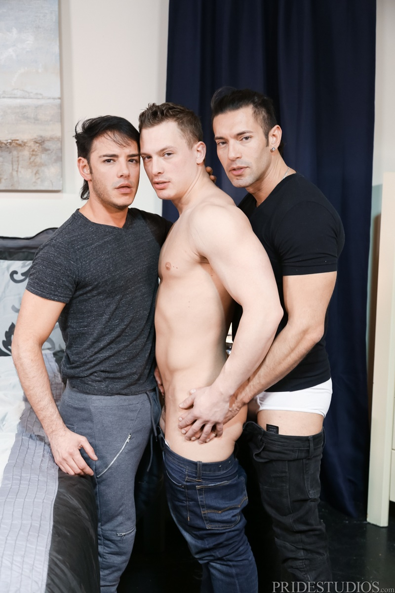 MenOver30 Hardcore ass fucking threesome Alexander Garrett Rego Bello Tommy Regan big thick large dick older mature men fucking 002 gay porn sex gallery pics video photo - Hardcore ass fucking trio with Alexander Garrett, Rego Bello and Tommy Regan