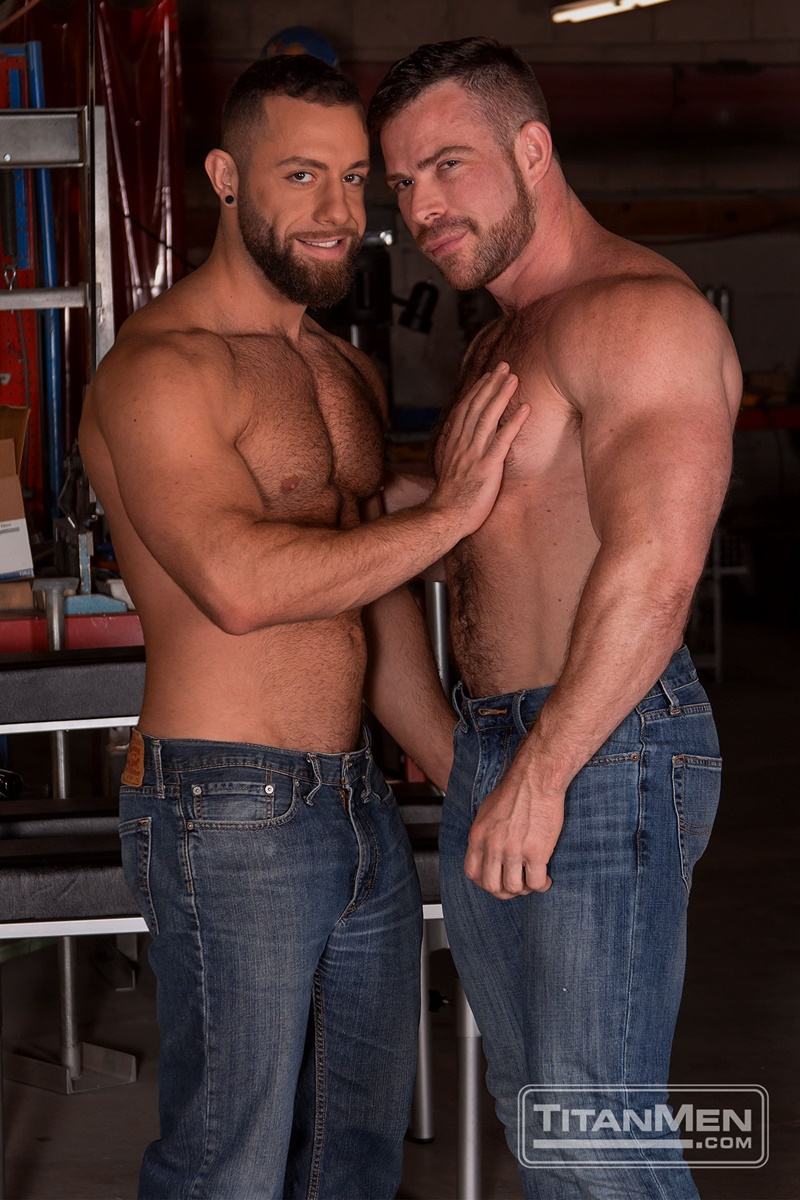 TitanMen sexy hardcore muscle dudes Liam Knox anal fucking Eddy Ceetee fuck sling gay porn sex ass fucking big thick large dicks 002 gay porn sex gallery pics video photo - Hardcore muscle dudes Liam Knox and Eddy Ceetee fuck in the sling factory