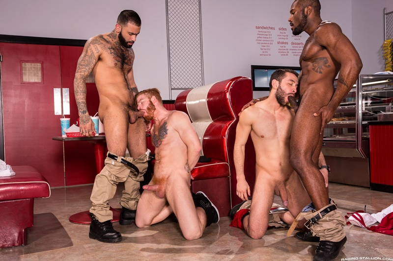 RagingStallion Hardcore ass fucking Noah Donovan Bennett Anthony Rikk York Lucas Allen hot naked big muscle men anal rimming 001 gay porn sex gallery pics video photo - Hardcore ass fucking Noah Donovan, Bennett Anthony, Rikk York and Lucas Allen