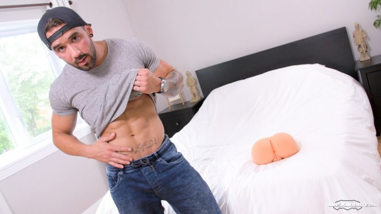 Maskurbate big muscle naked dude sexy stud Zack fucks tight muscled asshole big dildo bubble butt asshole solo jerk off 002 gay porn sex gallery pics video photo 768x432 - Sexy stud Zack fucks his tight muscled asshole with a big dildo