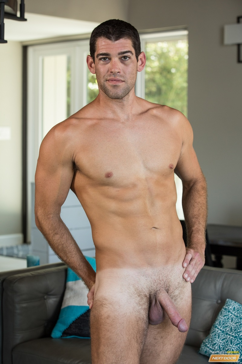 NextDoorMale sexy young dude tan lines Trevor Bigg strips naked wanks huge massive cock load cum orgasm bubble butt ass 010 gay porn sex gallery pics video photo - Trevor Bigg strips naked showing off his sultry tan lines as he wanks out a huge load of cum