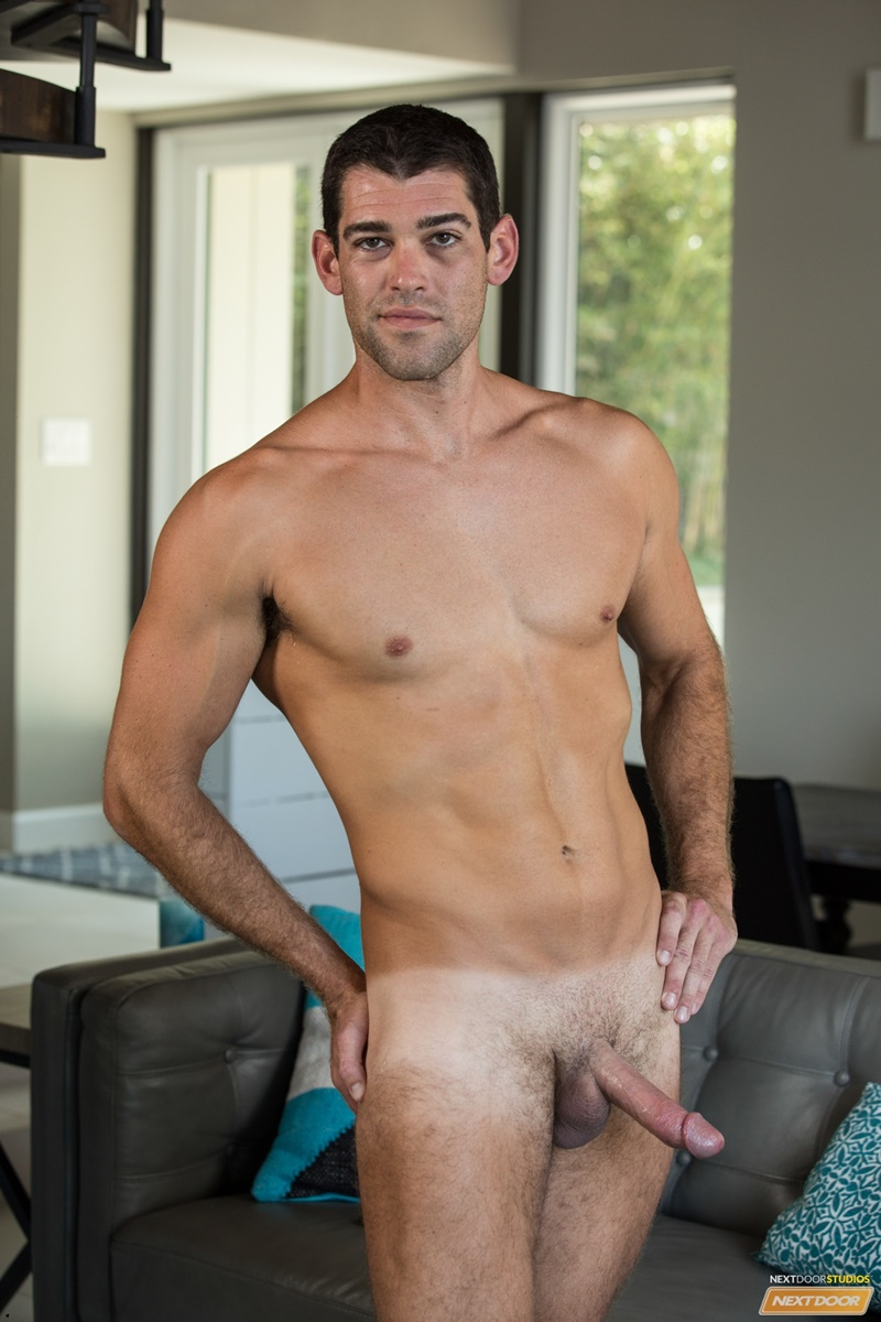 NextDoorMale sexy young dude tan lines Trevor Bigg strips naked wanks huge massive cock load cum orgasm bubble butt ass 011 gay porn sex gallery pics video photo - Trevor Bigg strips naked showing off his sultry tan lines as he wanks out a huge load of cum