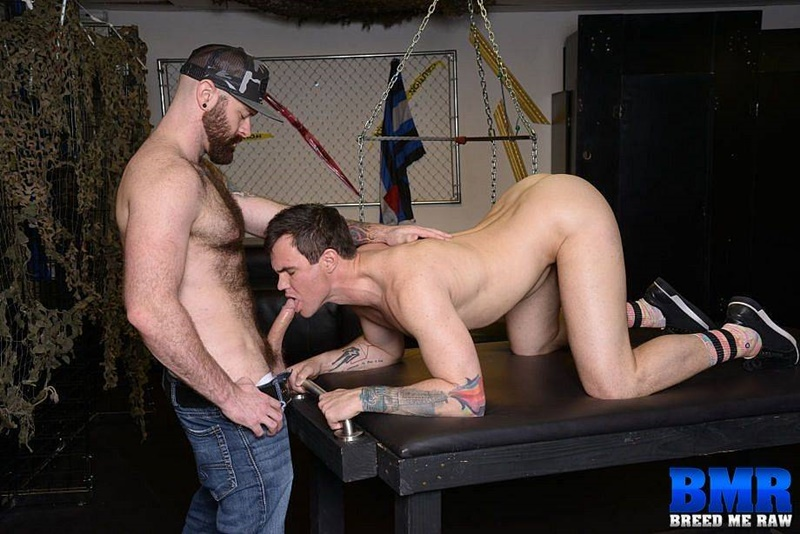 BreedMeRaw gay porn cum slut young nude dude sex pics Beau Reed ass seeded Luke Harrington big raw dick bareback fucking 001 gay porn sex gallery pics video photo - Beau Reed gets on his knees to service Luke Harrington's huge cock