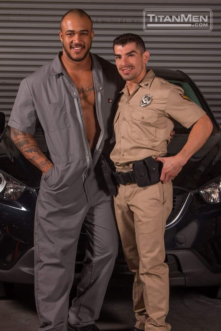 TitanMen gay porn interracial ass fucking uncut cock sucking sex pics Jason Vario cop Jeremy Spreadums foreskin 002 gallery video photo 768x1152 - Jason Vario sucks the cop Jeremy Spreadums' huge uncut dick tugging at his foreskin