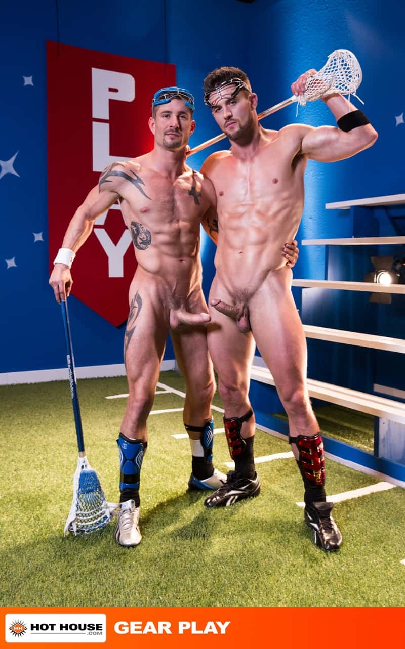 Hothouse gay porn sex naked young ripped sportsmen sports kit pics Ryan Rose sucking Sean Maygers huge cock 001 gallery video photo - Ryan Rose can't control his urges getting on his knees sucking down hard on Sean Maygers' huge cock
