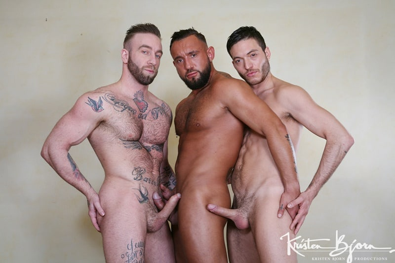 KristenBjorn gay porn dirty pig boy ripped big muscle hunks sex pics Ricco Fatale Manuel Scalco Jake Cooks 001 gallery video photo - Pig Ricco Fatale gets on his knees and sucks both Manuel Scalco and Jake Cooks' cocks at the same time
