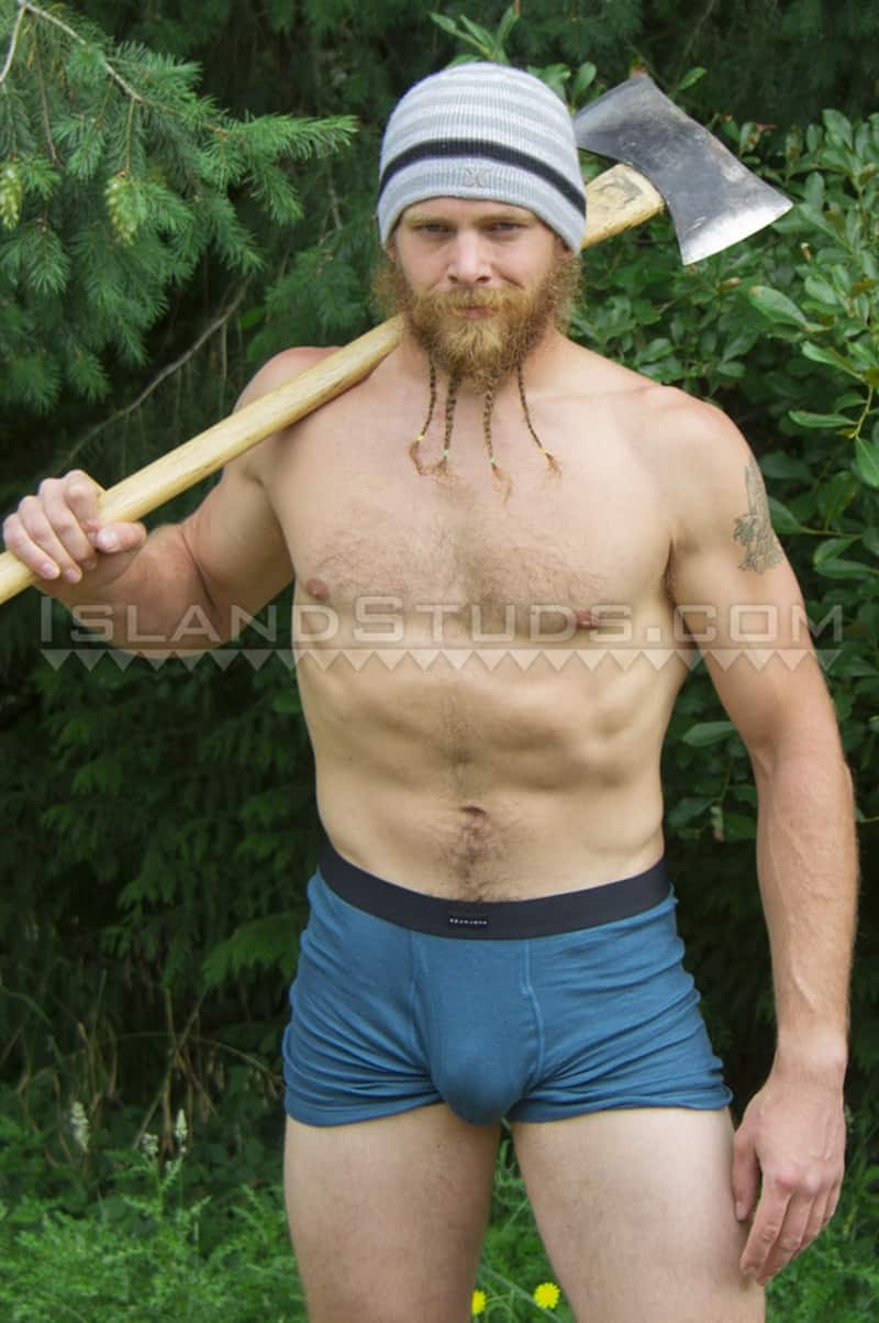 IslandStuds gay porn sexy bearded ripped muscle butt fire fighter sex pics Bain camps nude jerks off huge dick outdoors 001 gallery video photo - Sexy bearded ripped muscle butt fire fighter Bain camps nude and jerks off outdoors in chilly Oregon