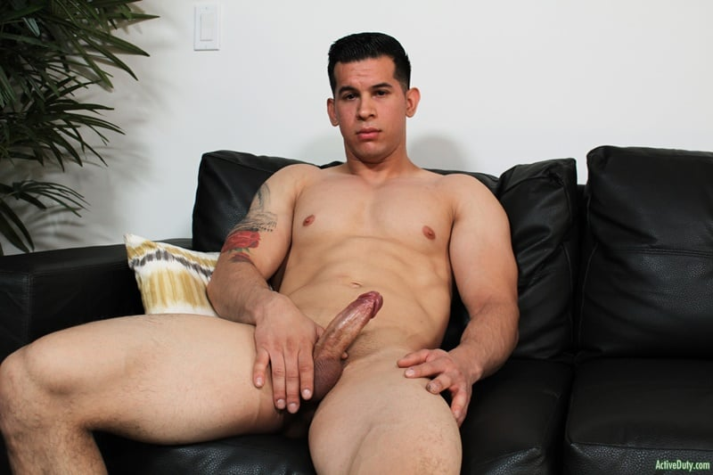 ActiveDuty gay porn Hot young muscled dude sex pics RJ jerks huge cock massive load cum 001 gallery video photo - Hot young muscled dude RJ jerks his huge cock to a massive load of cum