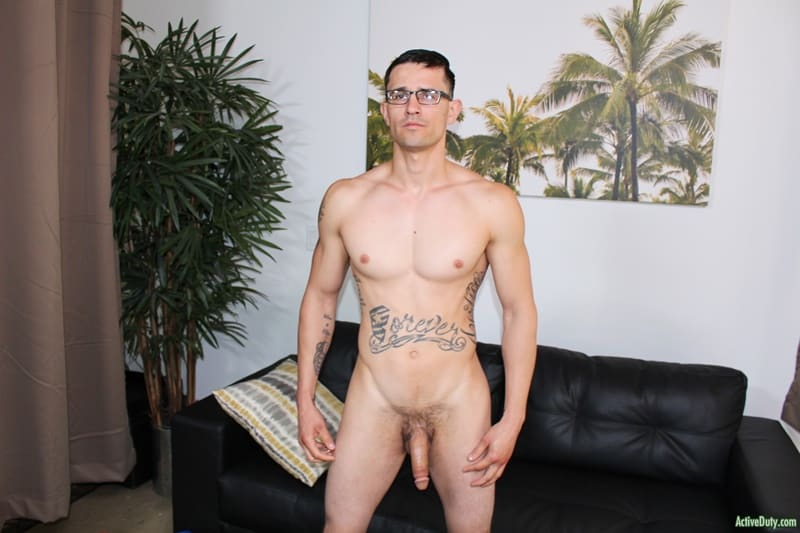ActiveDuty gay porn sexy young naked Army stud sex pics Woody Johnson jerks fat cock 001 gallery video photo - Sexy young Army stud Woody Johnson jerks his fat cock to a massive load of hot boy cum