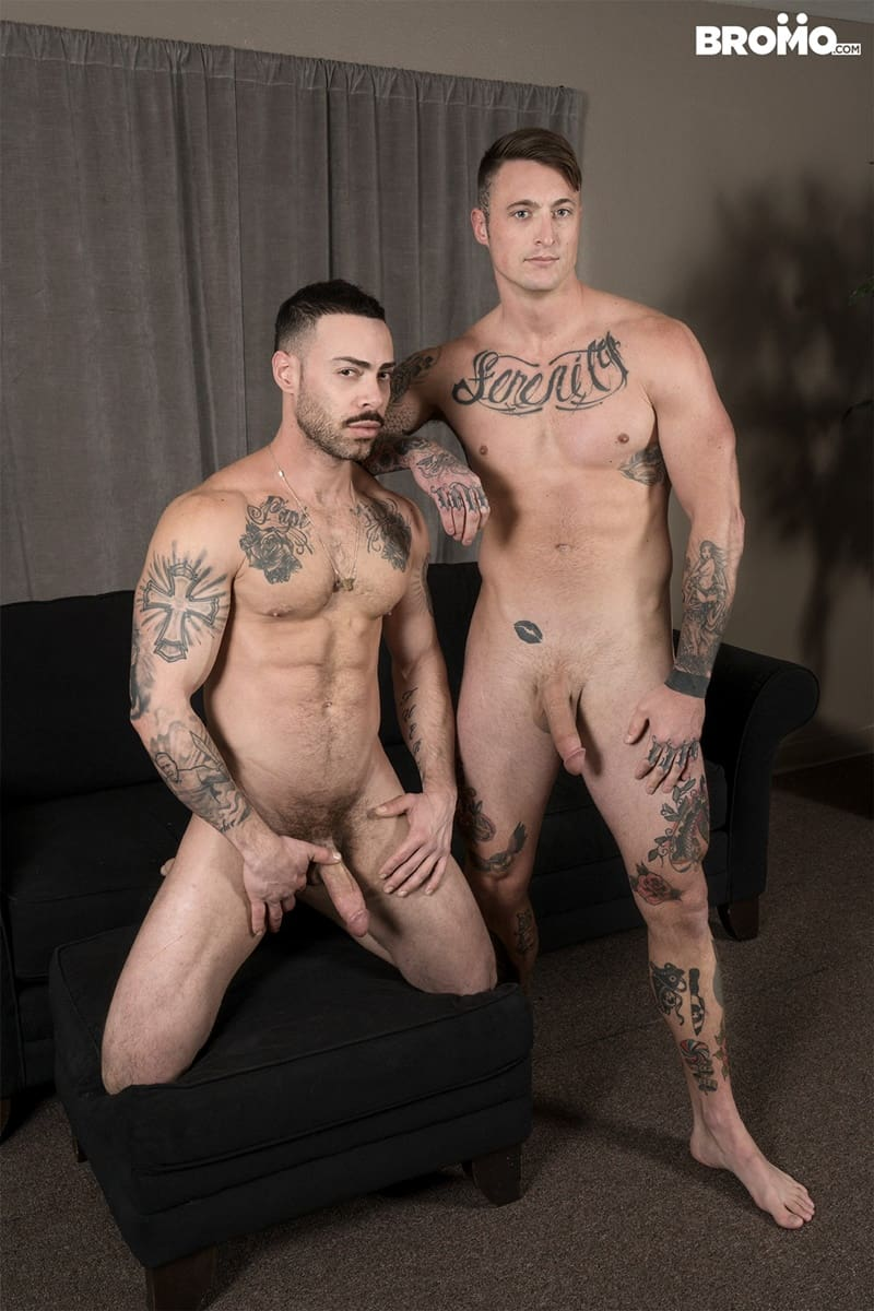 Bromo gay porn tattoo big dick hot naked muscle hunks sex pics Carlos Lindo Dane Stewart big cum load 006 gallery video photo - Tattooed muscle hunks Carlos Lindo as he begs for a sip of Dane Stewart's frothy big cum load