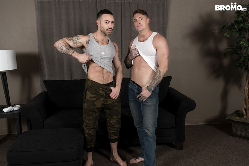 Bromo gay porn tattoo big dick hot naked muscle hunks sex pics Carlos Lindo Dane Stewart big cum load 022 gallery video photo - Tattooed muscle hunks Carlos Lindo as he begs for a sip of Dane Stewart's frothy big cum load