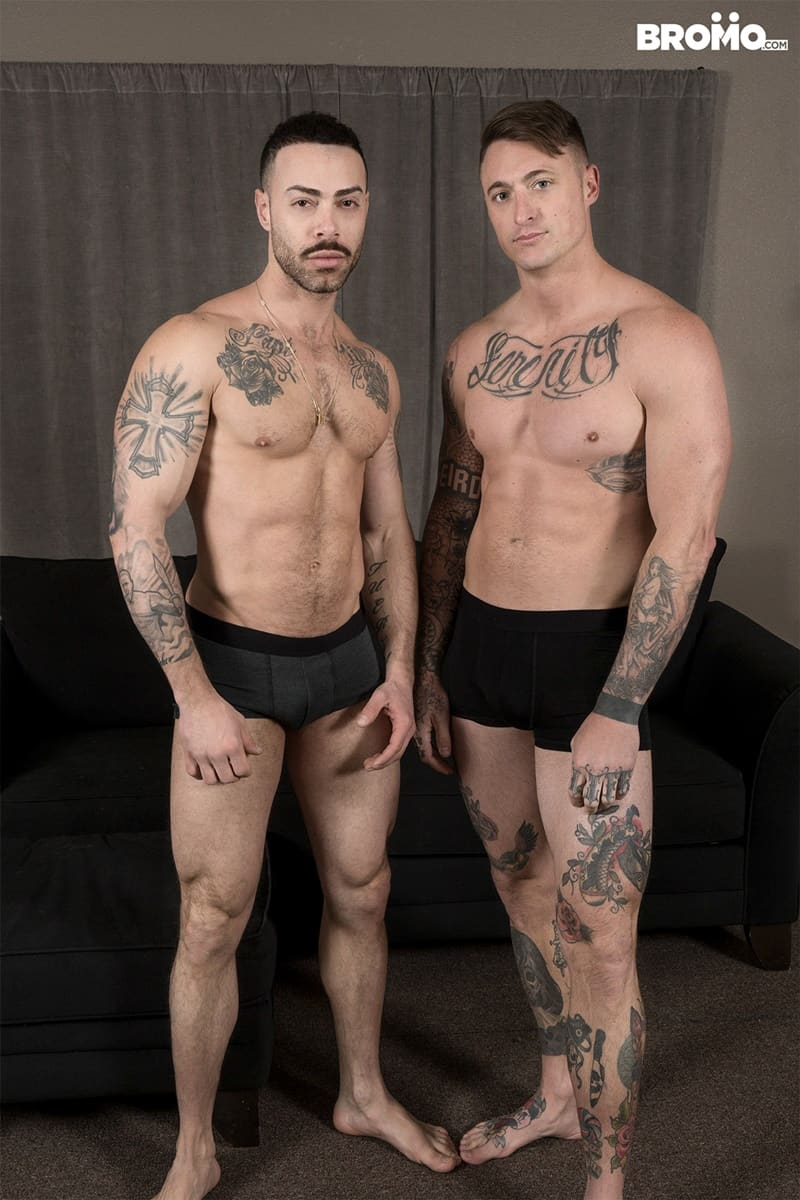 Bromo gay porn tattoo big dick hot naked muscle hunks sex pics Carlos Lindo Dane Stewart big cum load 025 gallery video photo - Tattooed muscle hunks Carlos Lindo as he begs for a sip of Dane Stewart's frothy big cum load