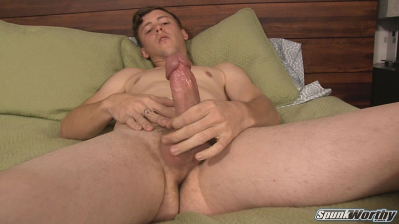 Spunkworthy gay porn all american naked dude big thick dick sex pics Nolan solo jerk off 001 gallery video photo - All American young dude Nolan gets a happy ending big cock massage