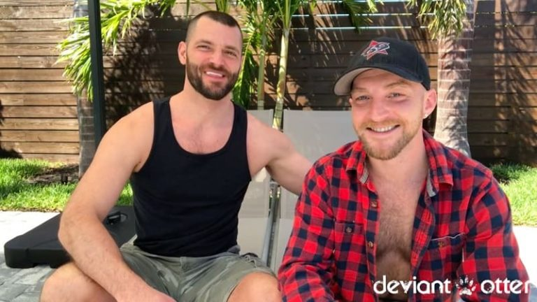 DeviantOtter gay porn hairy chest otter bearded young stud sex pics Devin Totter ass fucked Jake 002 gallery video photo 768x432 - Devin Totter gets his ass fucked by hot new hairy hunk Jake