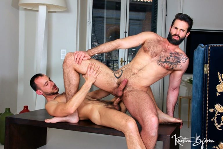 KristenBjorn gay porn hairy chest naked muscle dude sex pics The Pianist Dani Robles Ely Chaim 002 gallery video photo 768x513 - Ely Chaim's huge muscle cock massaging Dani Robles' ass with each deep thrust