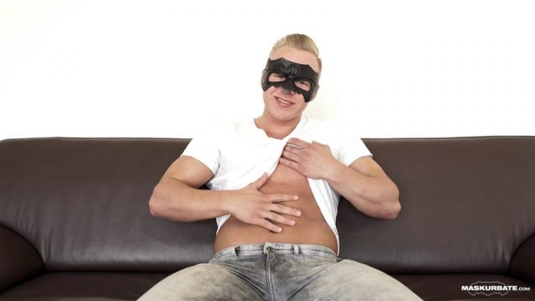 Maskurbate Sexy blond Mickey mask jerking huge cock ripped muscle guy 002 gallery video photo 768x432 - Sexy blond Mickey dons his mask and slips his hand inside his pants jerking his huge cock till he blows