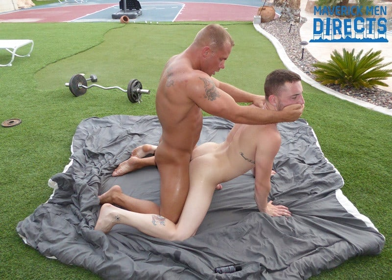 MaverickMenDirects big blond muscle dude fucks and rims dudes ass hole fucking his hole good 001 gay porn pictures gallery - Caleb jumped down on his knees and gobbled Austin's fat cock and ate and licked his hole