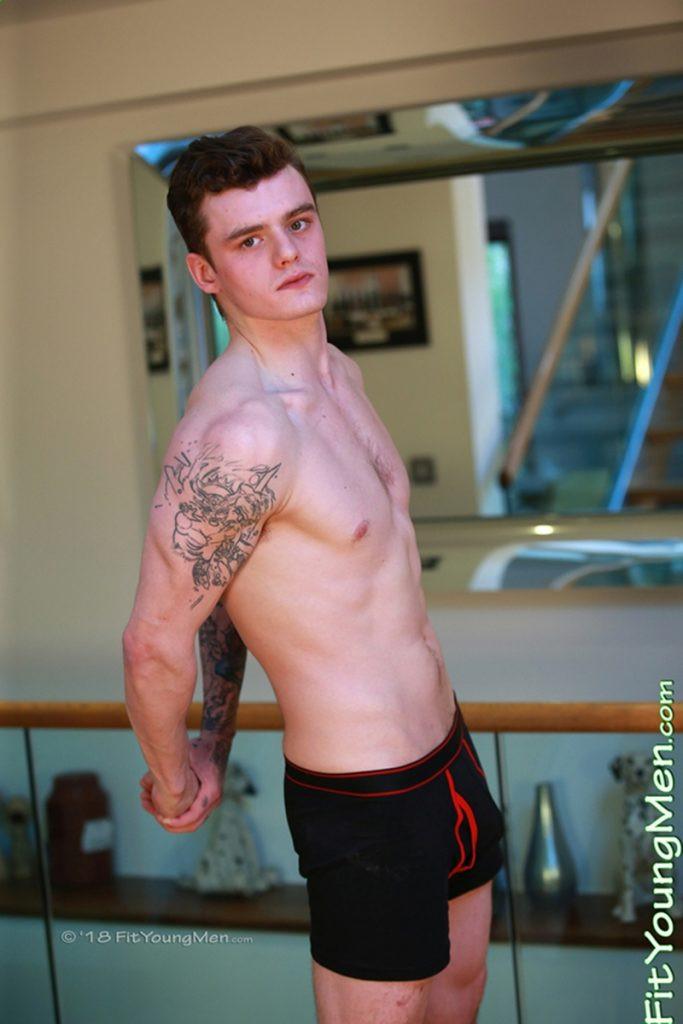 Gay Porn Pics 006 FitYoungMen Naked boxer Kieran Mills flexes muscled body big thick uncut dick 683x1024 - Kieran Mills