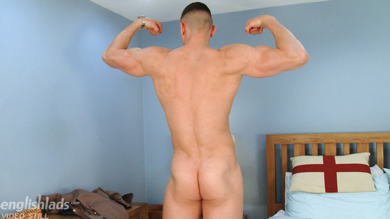 Gay Porn Pics 012 MMA Fighter footballer Adrien Wilson ripped body beautiful big uncut dick EnglishLads - Adrien Wilson