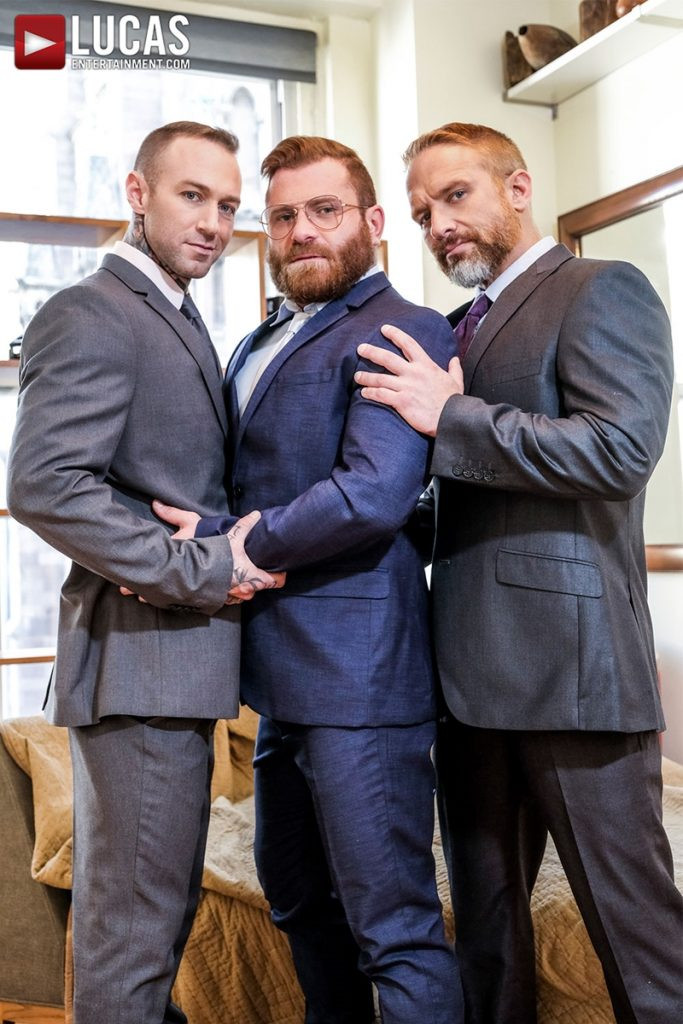 LucasEntertainment Hardcore muscle fucking threesome Dylan James Dirk Caber Riley Mitchel 004 Gay Porn Pics 683x1024 - Dylan James, Dirk Caber, Riley Mitchel
