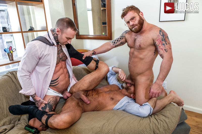 LucasEntertainment Hardcore muscle fucking threesome Dylan James Dirk Caber Riley Mitchel 017 Gay Porn Pics - Dylan James, Dirk Caber, Riley Mitchel