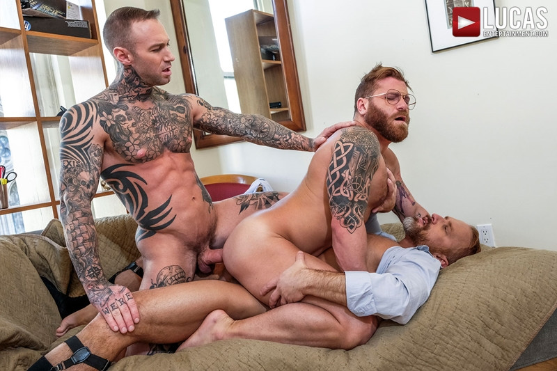 LucasEntertainment Hardcore muscle fucking threesome Dylan James Dirk Caber Riley Mitchel 020 Gay Porn Pics - Dylan James, Dirk Caber, Riley Mitchel