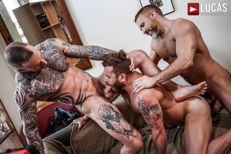 LucasEntertainment Hardcore muscle fucking threesome Dylan James Dirk Caber Riley Mitchel 024 Gay Porn Pics - Dylan James, Dirk Caber, Riley Mitchel